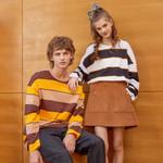 Loose stripe Hit color pullover Fashion Sweatshirt Oversize