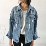 Basic Coat Denim Jacket Denim Jacket