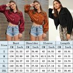 Basic Jackets Corduroy Coat Casual Button Long Sleeves
