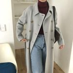 Drop shipping Casual Lapel Woolen Coats Loose