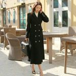 Drop shipping Office Wear Notched Collar Overcoats