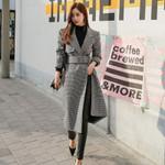Thicken Sahes Blends Coat Turn-down Collar A-line