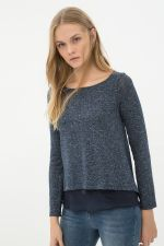 Cotton Navy Blue Sweater