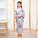 Traditional Kimono Girl Casual Haori Obi Kawaii Fairy Dress