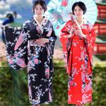 Traditional Costumes Kimono Dress with Obi Bathing Robe