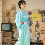 Traditional Clothing Kimono Asian Girl Cute Floral