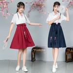 Style Kimono Dress Haori Yukata Kawaii Girls Vintage