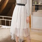 Long Skirts Mesh Skirt Streetwear Party Maxi Skirts