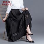 Lace Skirt Fashion Skirts Elegant Long Pleated Skirt
