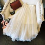 Skirt Faldas Mujer Moda Mesh Polka Dot Long Skirt