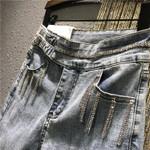 New Rhinestone Beaded Stretchable Denim Pants