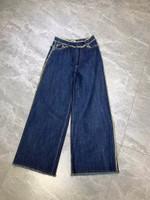 blue Wide Leg Jeans high waist jeans