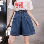 High Waist new fashion female Plus size denim short