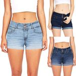 Denim Ladies Short Feminino Praia Fitness Mini Thong Jeans