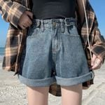 Casual Denim Shorts Crimping Slim Jeans Shorts