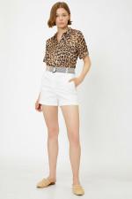 Coton Ecru Pocket Detail Shorts