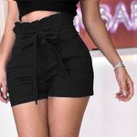 high waist mini sexy bow-knot Bandage Solid