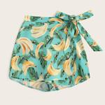 Boho Shorts Fashion Casual Fruit Banana Printed Gym