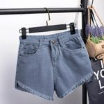 All Match Sashes Casual Denim Shorts Crimping High Waist