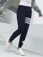 fashion sweatpants four striped casual sport pants
