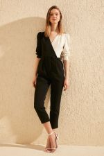 Trendyol Double Breasted Collar Jumpsuit