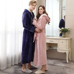 Thicken Warm Couple Flannel Robe Long Sleeve