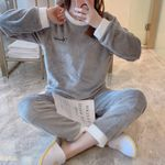 Pyjamas Sets Flannel Sleepwear Home Clothing Thick Warm