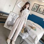 fashion western style wild spring overalls wide leg pants
