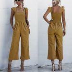 Ladies overalls Ladies overalls Shirred Frill Sleeves