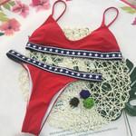 Pentagram Print Sexy Bikinis Set Tankini Set Low Waist