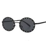 Diamond Oval Small Frame Luxury Sunglasses