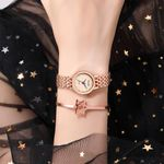 Elegant Casual Watches Stainless Steel mesh Strap Bracelet