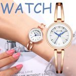 watches white round dial Quartz Watch rose gold Stainless