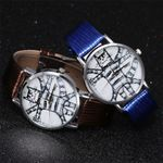 Hot Sale Classic cat printting white round dial quartz
