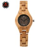 Vintage Engraving Wood Watches  Elegant Small Dial