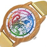 New Brand Qualities Watches Nature Wooden Grain monkey Dial