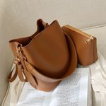 Casual Female Big Tote Bucket Bag New Quality Leather