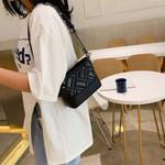 Pattern Messenger Handbags Rivet Patchwork Bags