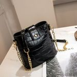 Crocodile Leather Crossbody Bag Small Bucket Messenger Bags