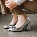 Slip On Hoof High Heels Lady Pumps Female Shoes