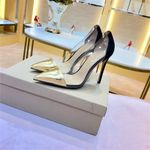 Classic Brand Shoes Pointed Toe Pumps Transparent Jelly