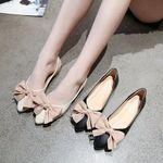 new flat shoes pointed bow gentle shoes