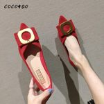 Flat Flat Shallow Pointed Pointed Evening Shoes Fairy Style