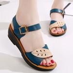 Sandals Wedges Fashion Solid Peep Toe Casual Wedge Platform