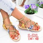 Lace Up Gladiator Sandals Fashion Hemp Rope Shoes