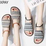 new fashion wild with long skirt flat shoes tide.