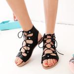 Shoes Sandals Flat Open-toe Shoes Fashion Flat Sandals