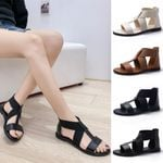 Flat Strappy Sandals Fresh Breathable Shoes Open Casual