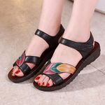 Wedges Sandals Female Comfort Leather Flats Sandals