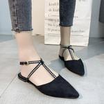 Peep Toe Shoes Buckle Strap Sandals Female Flat Shoe